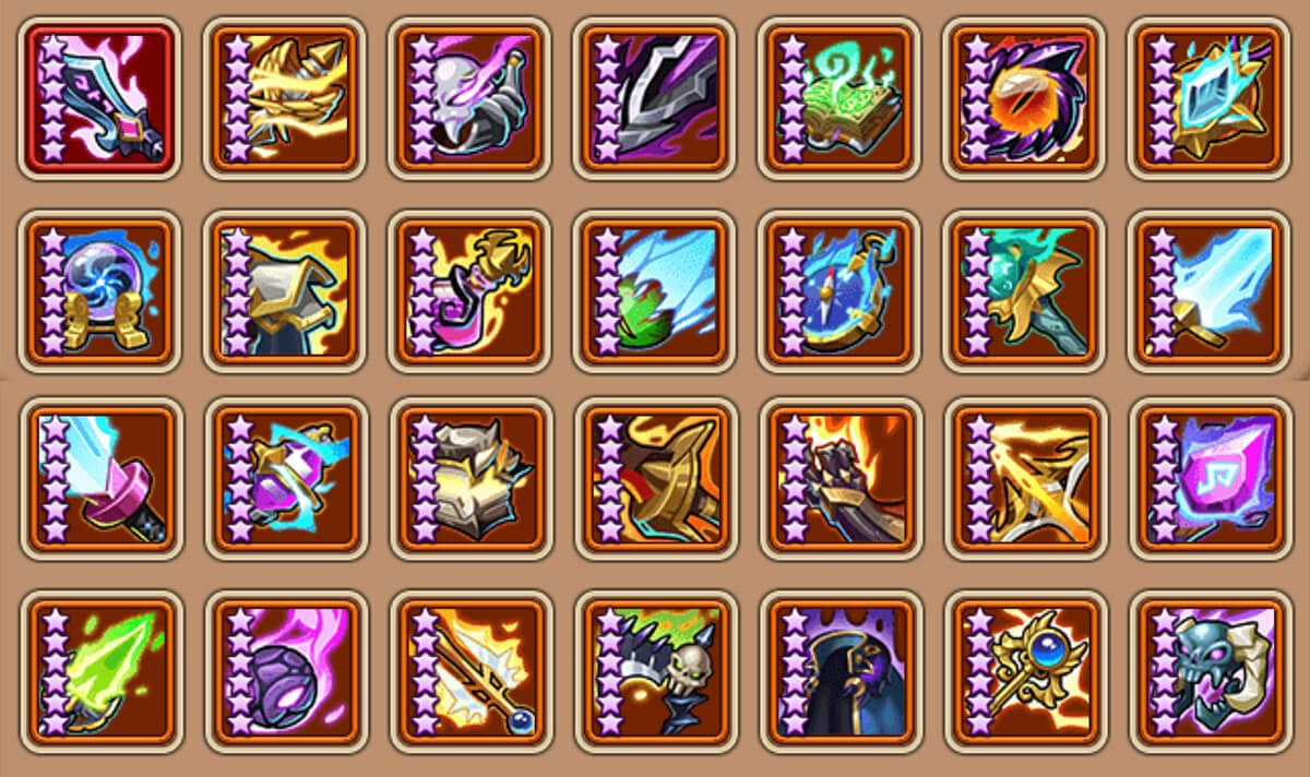 idle heroes artifacts